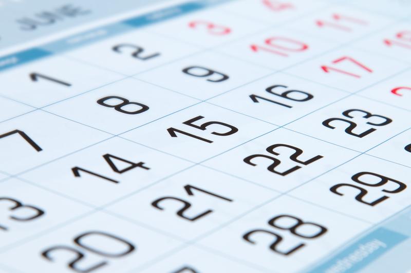 Close up Calendar of June